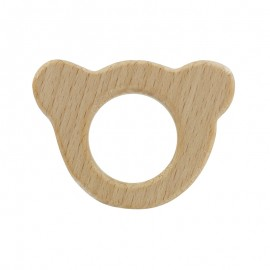 Natural wood teething ring - Ours Baby
