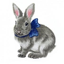 Thermo Lapin au foulard bleu