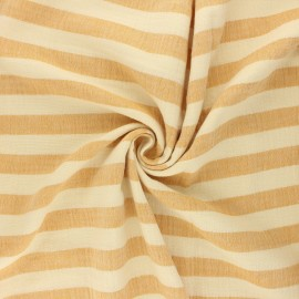 Double gauze fabric - ochre Listras x 10cm