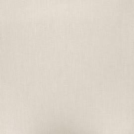 Tissu lin lavé enduit - grège x 10cm