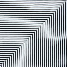 Tissu coton jersey Stenzo Stripy - noir x 10cm