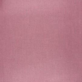 Tissu lin lavé enduit - vieux rose x 10cm