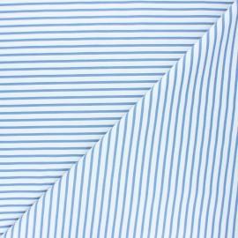 Tissu coton jersey Stenzo Stripy - bleu houle x 10cm