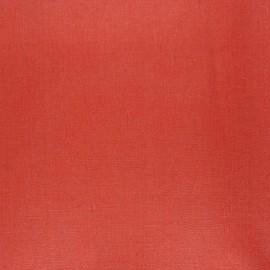 Tissu lin lavé enduit - tomette x 10cm