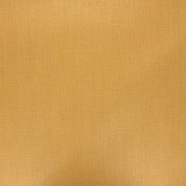 Coated washed linen fabric - ochre x 10cm