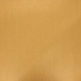 Tissu lin lavé enduit - ocre x 10cm