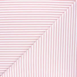 Tissu coton jersey Stenzo Stripy - rose x 10cm