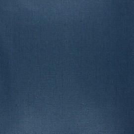 Coated washed linen fabric - petrol blue x 10cm