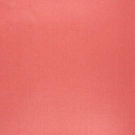 Tissu lin lavé enduit - corail x 10cm
