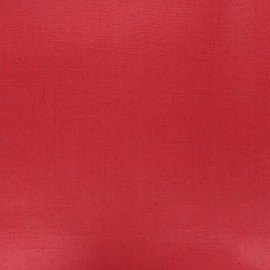 Coated washed linen fabric - red x 10cm