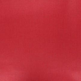 Tissu lin lavé enduit - rouge x 10cm