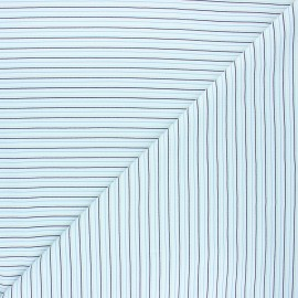 Tissu coton jersey Stenzo Cherbourg - bleu clair x 10cm
