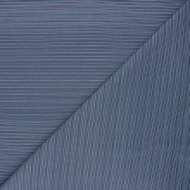 Tissu coton jersey Stenzo Cherbourg - bleu marine x 10cm
