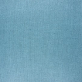 Coated washed linen fabric - teal blue x 10cm