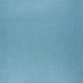Tissu lin lavé enduit - sarcelle x 10cm