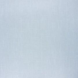 Coated washed linen fabric - smoke blue x 10cm