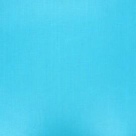 Tissu lin lavé enduit - azur x 10cm