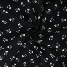 Tissu popeline de coton Grand pirate - noir x 10cm