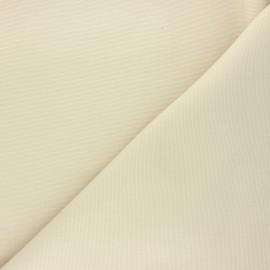 Tissu toile de coton natté réversible - beige x 10cm