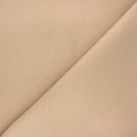 Tissu toile de coton natté réversible - sable x 10cm