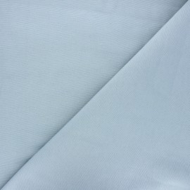 Tissu toile polycoton uni - bleu fumé x 10cm