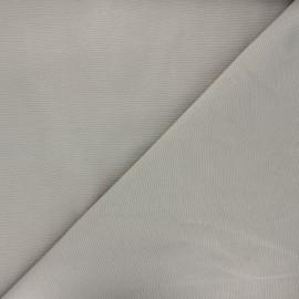 Tissu toile polycoton uni - gris taupe x 10cm