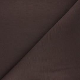 Tissu toile polycoton uni - chocolat x 10cm