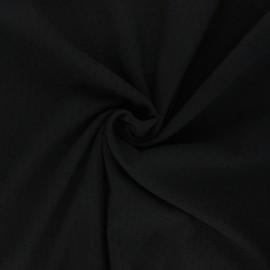 Tissu voile de coton froissé plumetis - noir x 10cm