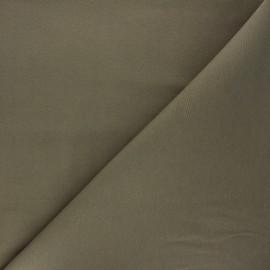 Tissu toile polycoton uni - kaki x 10cm