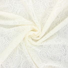 Elastane lace fabric - raw Luce x 10cm