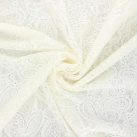 Tissu dentelle élasthanne Luce - écru x 10cm