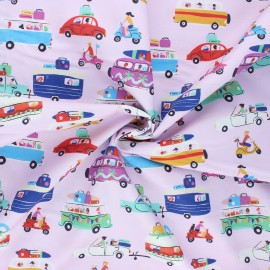 Cotton Dashwood Studio fabric - Vacation departure Lazy days x 10cm