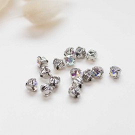 Bouton strass Sweet angels 7mm - holographique