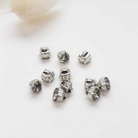 Bouton strass Sweet angels 7mm - gris