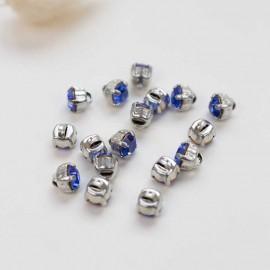 Bouton strass Sweet angels 7mm - bleu saphir
