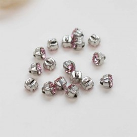 Bouton strass Sweet angels 7mm - rose