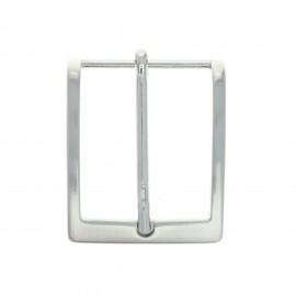 40 mm Metal belt buckle – silver Fibb