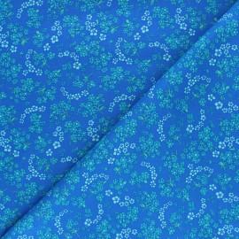 Petit Pan cotton fabric - navy blue Hanako x 10cm