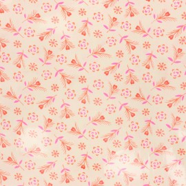 Tissu coton enduit Petit Pan Gitane - ivoire x 10cm