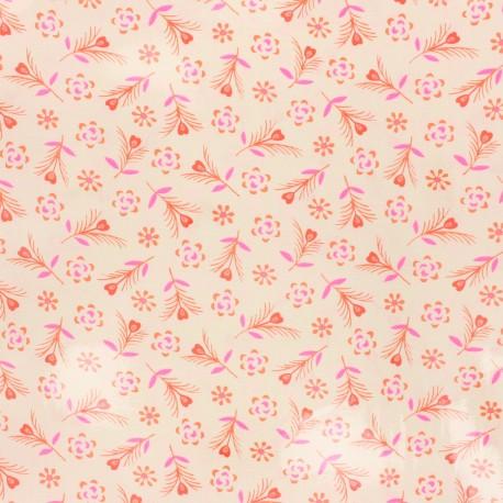 Petit Pan coated cotton fabric - ivory Gitane x 10cm