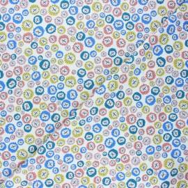 Cotton Dashwood Studio fabric - white Urchins Rock pool x 10cm