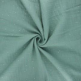 Double gauze fabric - eucalyptus Galaxie argentée x 10cm