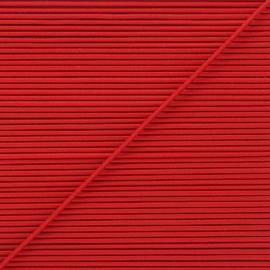 Cordon élastique rond 1,9 mm - rouge x 1m