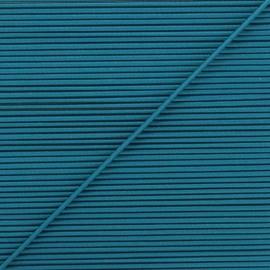 Cordon élastique rond 1,9 mm - bleu paon x 1m