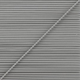 Cordon élastique rond 1,9 mm - gris perle x 1m