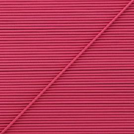 Cordon élastique rond 1,9 mm - framboise x 1m