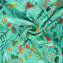 Tissu rayonne Dashwood studio Circle line - Forest nature x 10cm