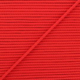 Cordon tricoté Chroma 4 mm - rouge x 1m