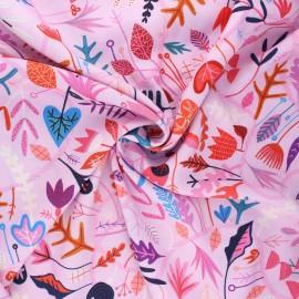 Tissu rayonne Dashwood studio Circle line - Seasons - rose clair x 10cm