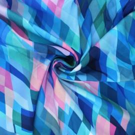 Tissu rayonne Dashwood studio Circle line - Somewhere - bleu x 10cm